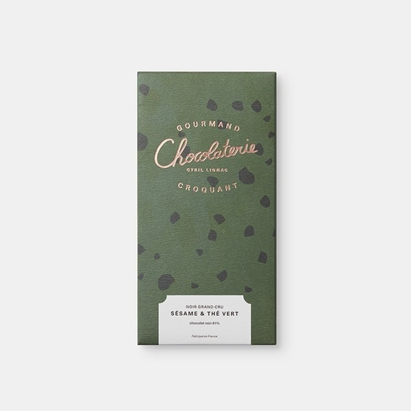 Tablette Noir Grand Cru Sésame Thé vert
