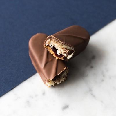 Barre chocolatée Noix de coco framboise